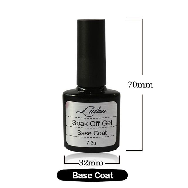LULAA UV Top Coat UV Base Coat Foundation for UV Gel Polish Top it off Long Lasting UV Nail Gel Art Finish Top Coat Gel Lacquer