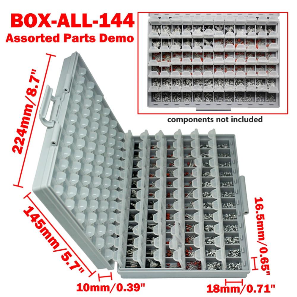 AideTek 2 házak Felületre szerelt ellenállás kondenzátor - Szerszámtárolás - Fénykép 5