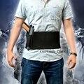 Banda Barriga Cintura Ajustável tático Pistola Coldre Com Duplo Revista bolsas para Glock 17 19 22 23 25 30 31 32