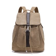 2017 Fashion Canvas Female Shoulders Bag New Woman Canvas Backpacks unisex Travel Backpack for Teenagers Laptop