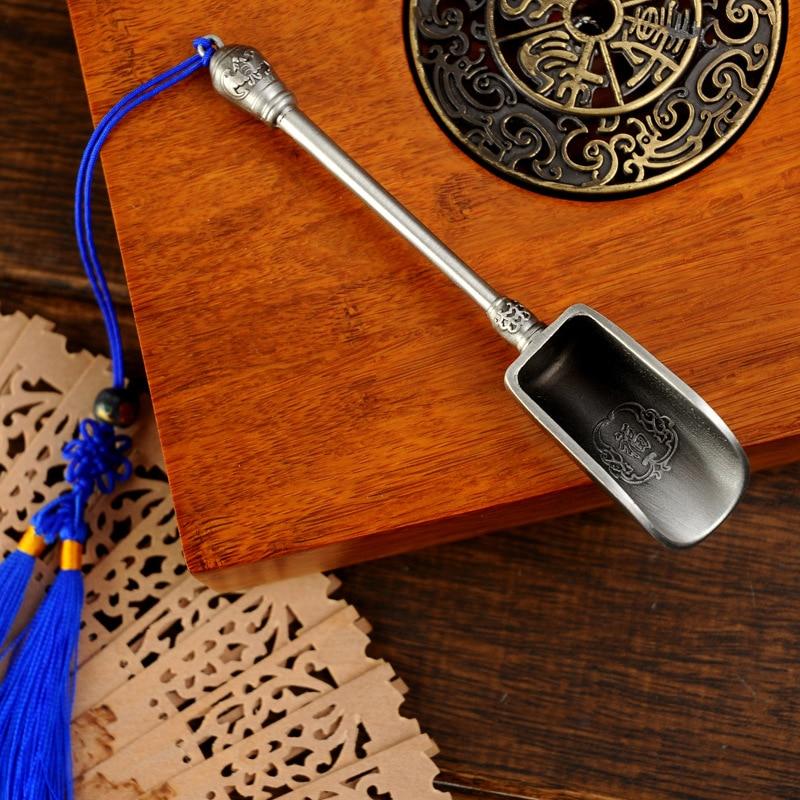 Chinese Tea spoon Tea Scoop Coffee High Quality Alloy Long handle Tea Tools Chinese Kongfu Tea Accessories Tools