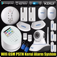 DHL Free Shipping WiFi GSM PSTN RFID Security Alarm System Wifi IP Camera ISO Android App