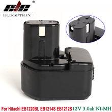 Bateria da ferramenta elétrica de ni-mh 3000 mah 12 v 3.0ah para hitachi eb1214s 12 v eb1212s ds 12dvf3 eb1220hl, eb1220hs, eb1220rs, eb1222hl