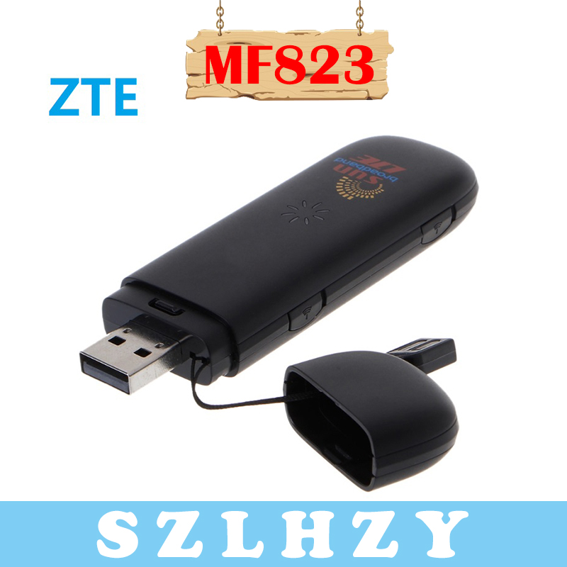 Unlocked ZTE MF823 4G 100Mbps LTE USB Stick Modem FDD 800/900/1800/2600Mhz 42M 4G Dongle 4G car wifi with Micro SD Card Slot