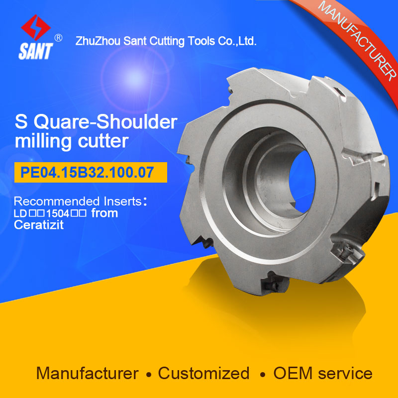 Square shoulder milling cutter Indexable milling tools insert LDCN 1504 from Ceratizit disc PE04.15B32.100.07 hot selling Abroad