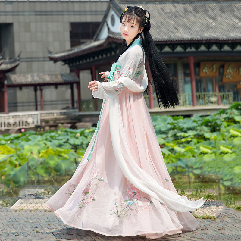 Traditional Chinese Dance Costume Women Green Hanfu Singers Stage Wear Oriental Performance Clothing Folk Festival Outfit