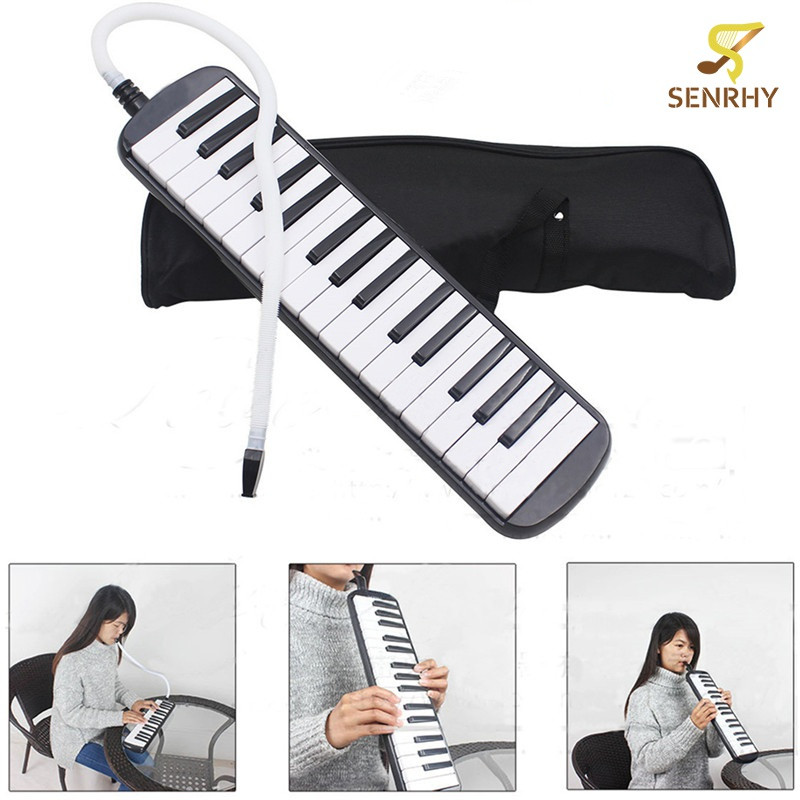 32 Keys Melodica Musical Instrument Piano Style Harmonica For Music Lovers Beginners Gift with Carrying Bag Black  (Black) Malaysia