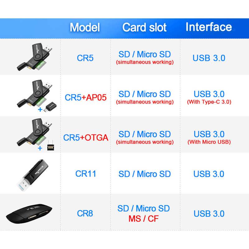 Rocketek в то же время читать 2 карты usb 3,0 multi card reader адаптер кардридер для micro SD/TF microsd читателей компьютер