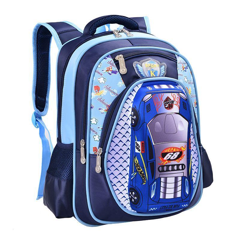 3D Cartoon Big Capacity Russia Style Orthopedic School bags For Boys Car Ultralight Waterproof Backpack Child Kids School bag Q5