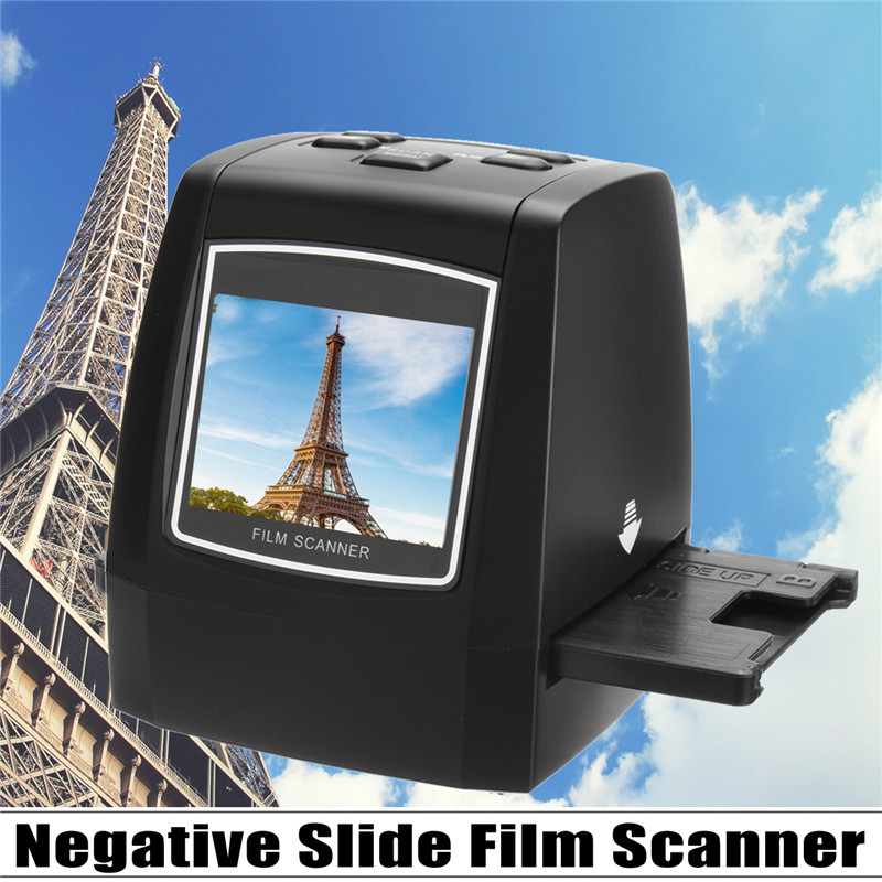 Ultra Ad alta Risoluzione Visualizzatore Scanner Diapositive Pellicola Negativa Photo Converter USB 2.0 MSDC Monocromatico Professione UK/EU Plug