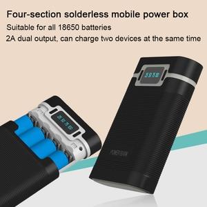Image 2 - FELYBY taşınabilir güç bankası kutusu 18650 pil şarj aleti mobil güç kutusu ile LED ışık çift USB çıkışı ile cep telefonu için