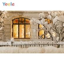 Yeele Winter Landscape Room Decor Sunrise Snow Tree Photography Backdrops Personalized Photographic Backgrounds For Photo Studio
