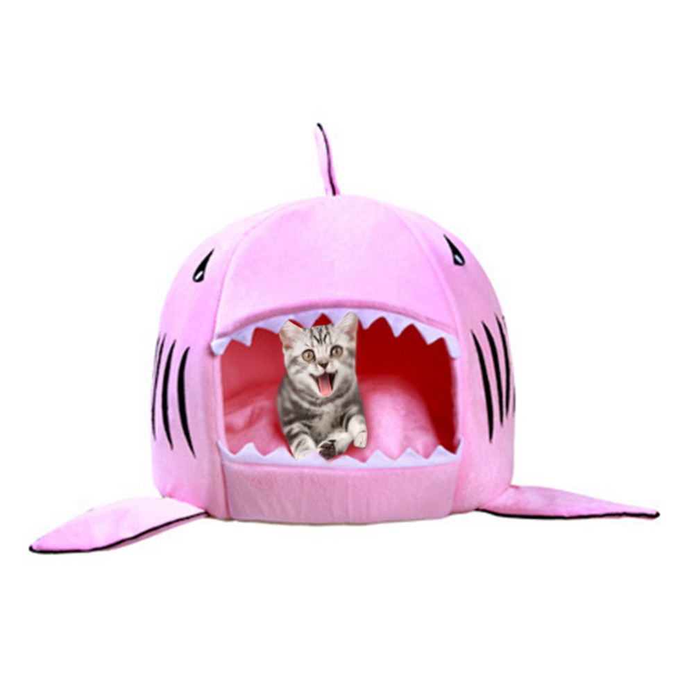 Dozzlor Shark Cat House Bedding Basket Cute Pet Products Sleeping Small Medium Puppy Litter Dog Bed Lounger For Animal 3 Colors #4