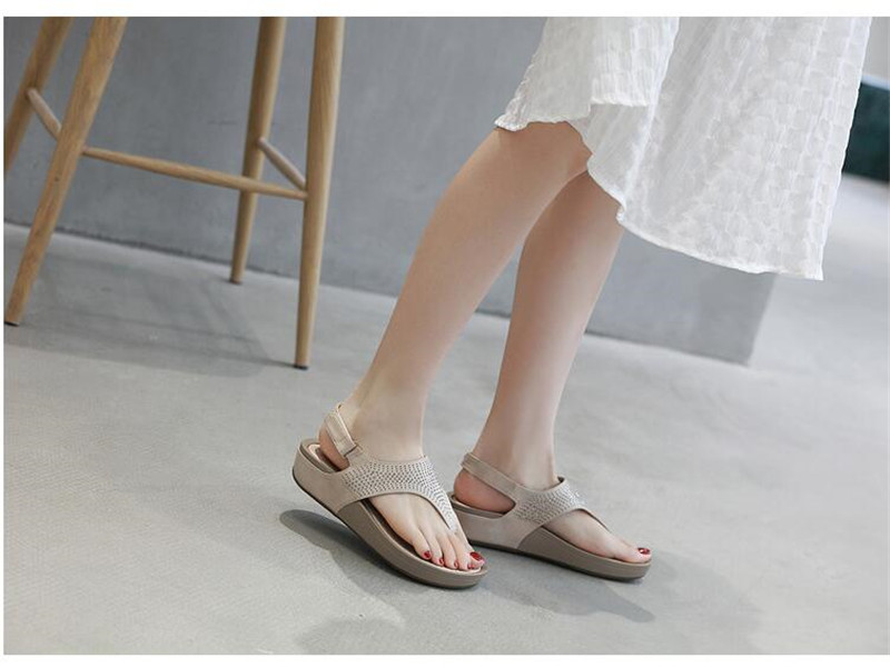 HTB1SXBobvjsK1Rjy1Xaq6zispXaB TIMETANGNew Summer Wedge Rhinestone Women Sandals Open Toe Gladiator Sandals Women Casual Women Platform Sandals Beach flipflops