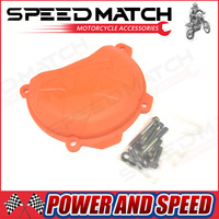 Plastic Engine Right Clutch Case Cover Guard Protector For KTM SXF EXCF XCF XCFW FREERIDE 250