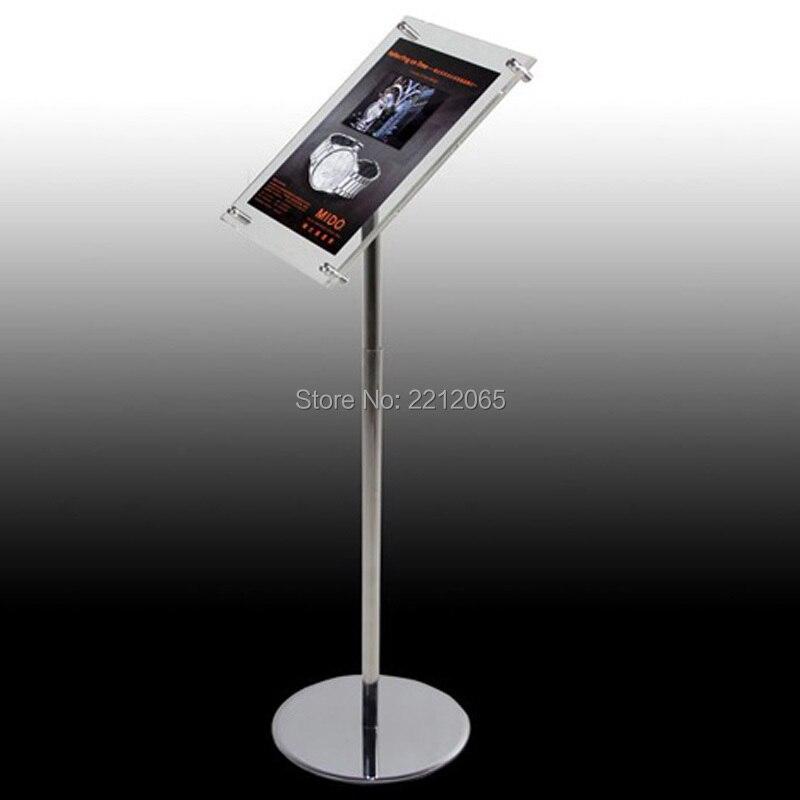 Office & School Supplies A3 Adjustable Pedestal Sign Holder Floor Stands Rack Black Acrylic Frames Advertising Banner Photo Menu Literature Display Frame