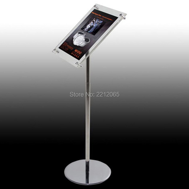 A40 Adjustable Floor Standing Pedestal Sign Holder Floor Stand With New Adjustable Acrylic Display Stands