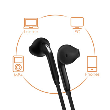 ANBES Sport Headphones with Mic 3.5mm In-Ear Wired Earphone Earbuds Stereo Headphones Universal for Xiaomi iPhone PC Audio Audio Electronics Electronics Head phone Headphones & Headsets color: Black|White