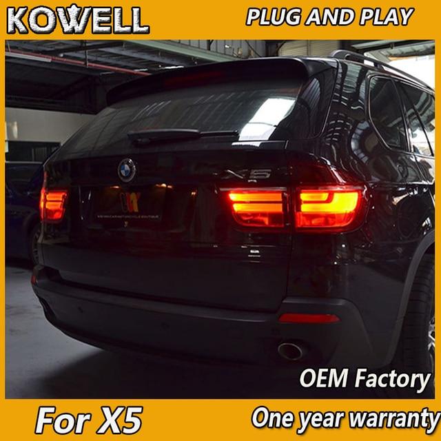 Kowell Styling Auto Lampada di Coda per Bmw E70 X5 Luci di Coda 2007 2013 per E70 Posteriore Luce Drl + indicatori di Direzione + Freno + Reverse