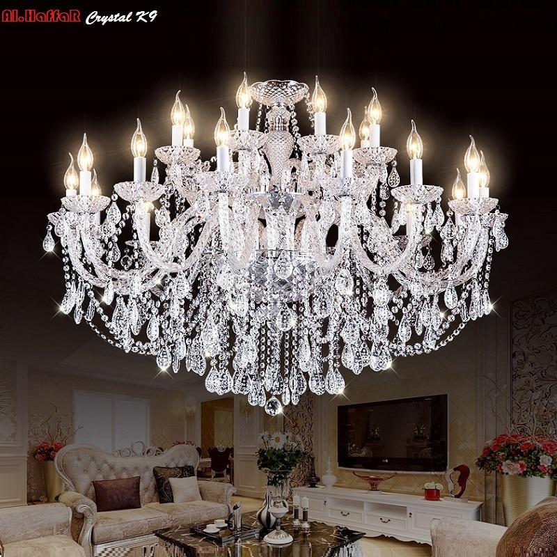 Luxury New K9 Modern Chandelier Lustre Crystal Chandeliers 3 6 8 10 15 18 Arm Lustres