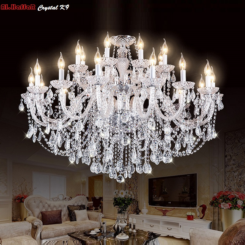 hot selling smoked k9 crystal chandelier lustre crystal chandeliers lustres de cristal chandelier e14 led ac lampshades included 2018 New K9 Modern Chandelier Lustre Crystal Chandeliers 3/6/8/10/15/18 Arm Lustres De Cristal Chandelier AC110V/220V lighting