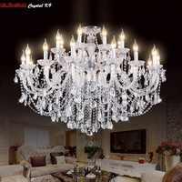 Lujo nuevo K9 candelabro moderno Lustre candelabros De Cristal 3/6/8/10/15/18 brazo Lustres De Cristal candelabro AC110V/220 V iluminación