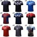 Бесплатная доставка 2018 футболка Супермен/Бэтмен/Человек-паук/Капитан Америка/Халк/Железный человек/Футболка Мужская Фитнес-рубашка мужские футболки - фото