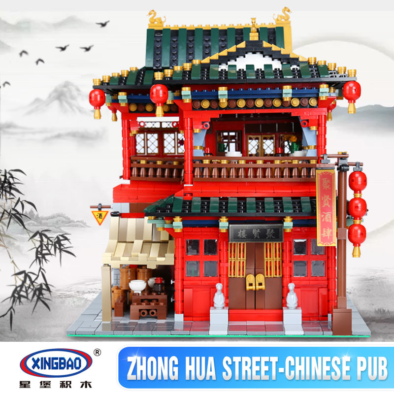 купить Xingbao 01002 3267Pcs MOC Creative Series The Beautiful Tavern Set Children Educational Building Blocks Bricks Toys Model Gifts недорого