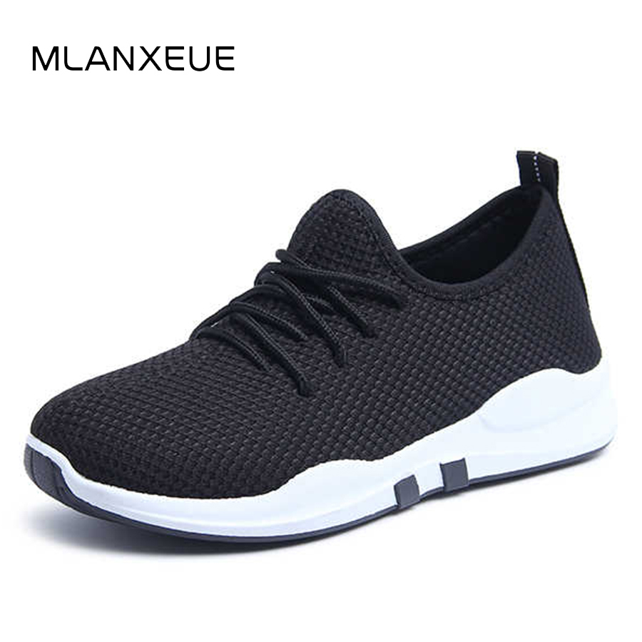 MLANXEUE Mode Respirant Femmes Sneakers Plus Size Casual Chaussures Maille Femmes Chaussures Dentelle Up 2018 Été Automne Dame Chaussures