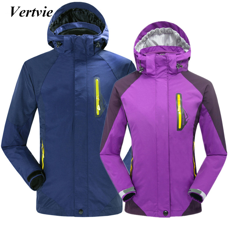 Vertvie Autumn Winter Fleece Thermal Breathable Camping Hiking Jackets For Women Men Windstopper Waterproof Softshell Jackets