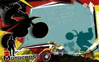 Sports Motorcycle Silhouette Motocross Abstract Collage 4 Sizes Picture Canvas Poster Print