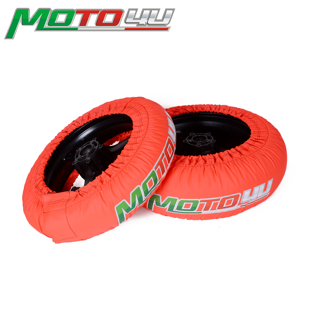MOTO4U 1 Pair Orange 120 165 120 190 120 200 Front and Rear Racing Universal CE