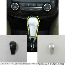 For Nissan X-trail xtrail T32/Rogue 2014 2015 2016 inner car body cover stick styling Shift knob control lamp frame trim 1pcs