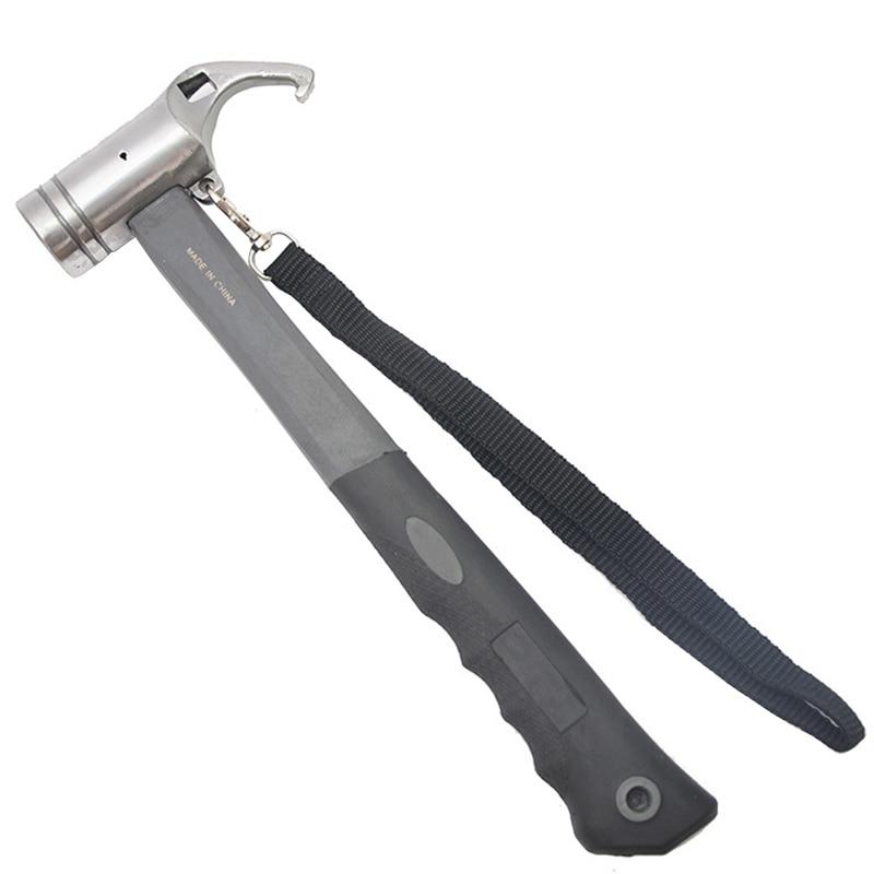 Tragbare Carbon Stahl Camping Zelt Hammer Zelt Peg Stake Puller Mallet Extractor Remover Markise Baldachin Multifunktions Werkzeug