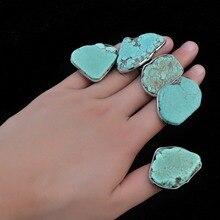 Винтажное тибетское асимметричное геометрическое серебряное кольцо с зеленым камнем для женщин, богемные вечерние ювелирные изделия в индийском стиле, подарки Anel Feminino