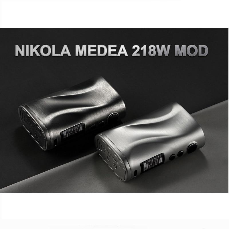 Nikola Medea 218 W caja Mod alimentado por batería Dual 18650 vaporizador de rosca 510 cigarrillos electrónicos VS Vaporesso Mod caja - 6