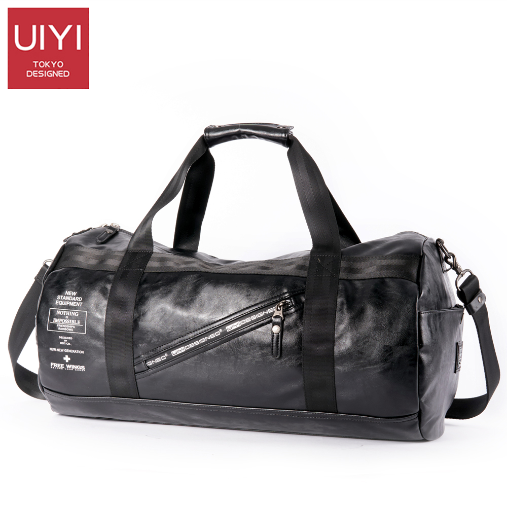 UIYI Men Soft PVC Travel Bag Classic High-Capacity handbag For Men Waterproof Shoulder Bags Luggage Travel Duffle # UYS7032 2
