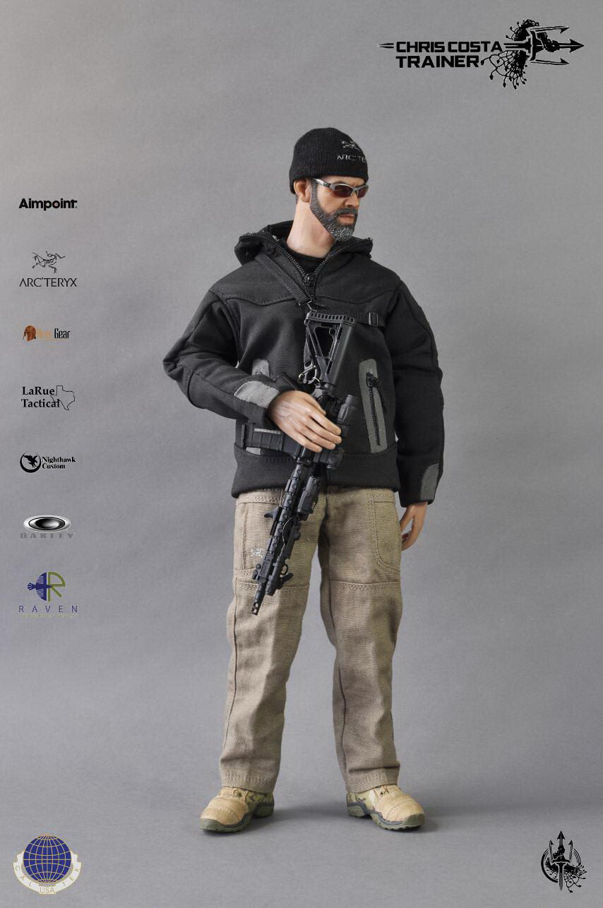 1/6 scale doll model Chris Costa Trainer Firearms Master.12