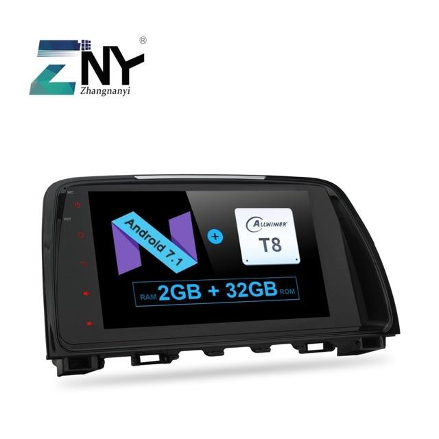 "9"" Android 7.1 Car Stereo For Mazda 6 Atenza 2013 2014 2015 Auto PC Radio RDS Audio Video Headunit GPS Glonass Navigation No DVD"