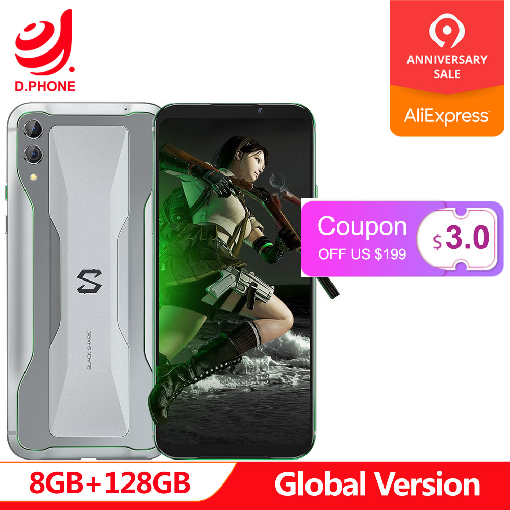 Global Versão Xiaomi Black Shark 2 8 GB 128 GB Gaming Telefone Snapdragon 855 Núcleo octa 6.39