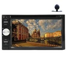 "Car Stereo 6.2"" In-dash headunit video In-dash Car DVD Player Stereo Radio Bluetooth MP3 MP4 RDS FM AM + Free rear View Camera"