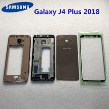 สำหรับ Samsung Galaxy J4 + 2018 J4 PLUS J415 J415F SM J415F Full LCD แผงแบตเตอรี่กลางประตูเปลี่ยน