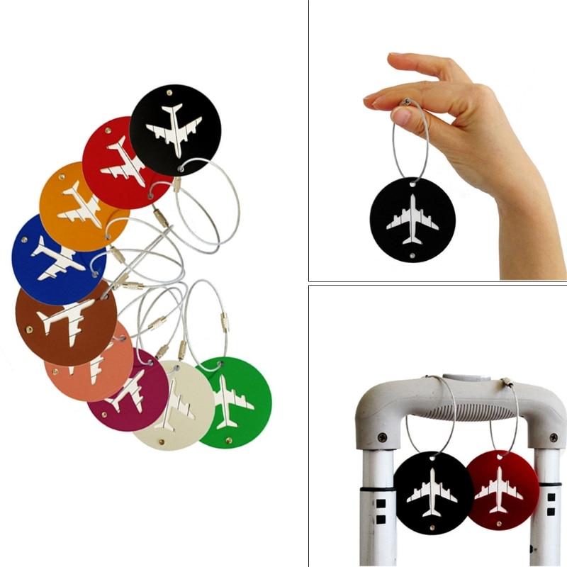 THINKTHENDO Fashion Hot Travel Aluminium Luggage Tags Suitcase Label Holder Name Address ID Baggage Tag for Men Women