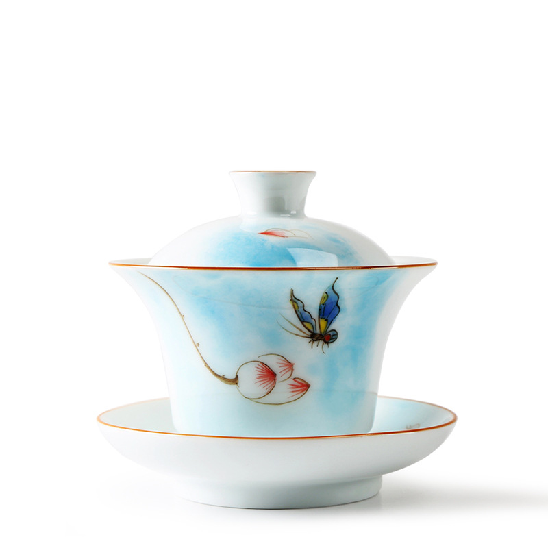tureen bowl with lid gaiwan tea set porcelain handpainted butterfly touch flower art nouveau cup bowl saucer newly listedtureen bowl with lid gaiwan tea set porcelain handpainted butterfly touch flower art nouveau cup bowl saucer newly listed