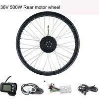 Promo Bicicletas eléctricas Motor Fatbike para bicicleta trasera de 36V 500 W conjunto de rueda de Motor