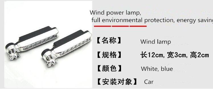 2pcs 8 x LED Automotive grid personality wireless wind lamp styling. for Mercedes 1 Benz GLC300 GLC260 GLC200 E260L E200L E180L