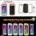 Extrema dirtproof à prova de choque À Prova de Intempéries liga de Metal Caso Para o iphone 6 6 s 4.7 polegadas + Gorilla Glass + com Impressão Digital função