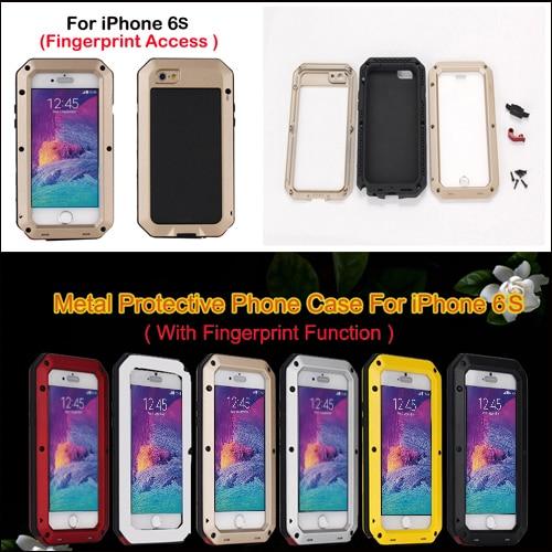 Цена за Extreme всепогодный призма противоударный металлический сплав чехол для iPhone 6 6S 4.7 дюймов + Gorilla Glass + с отпечатков пальцев, функция