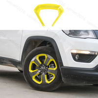 20pc Yellow ABS Fit For Jeep Compass 2017 Wheel Round Decorator Frame Cover Trim