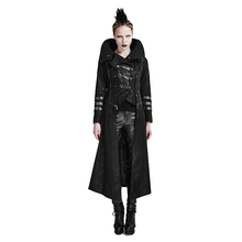 PUNK RAVE Womens Fashion Punk Detachable Coat Streampunk Gothic Long Trench Halloween Vampire Cosplay Costume S-5XL